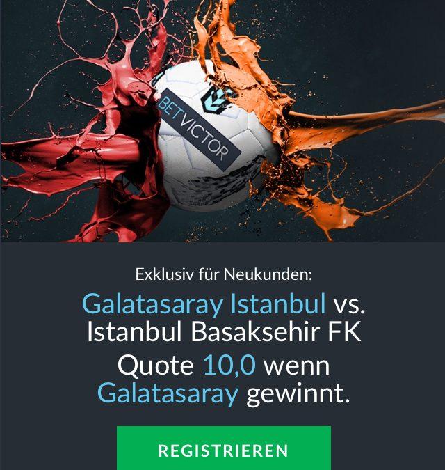 Mega-Quote: 10.0 für einen Galatasaray-Sieg gegen Basaksehir