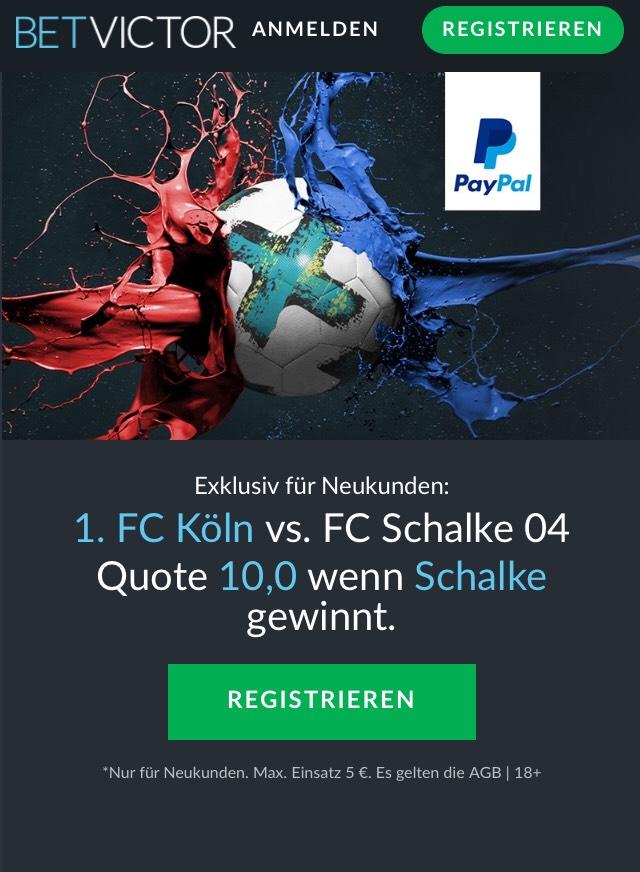 MEGA-Quote: 10.0 für Schalke-Sieg in Köln