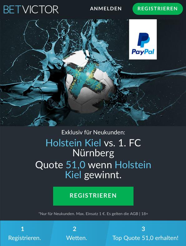 MEGA-Quote: 51.0 wenn Holstein Kiel gewinnt