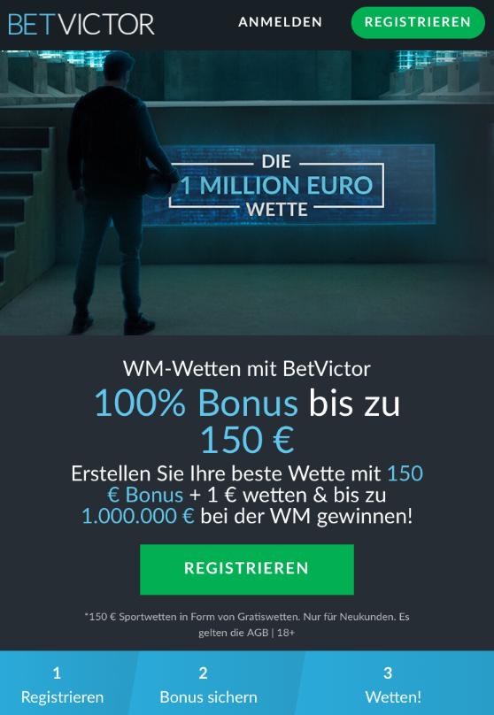 Eine Million und Co: Die besten Bonus-Angebote zur WM