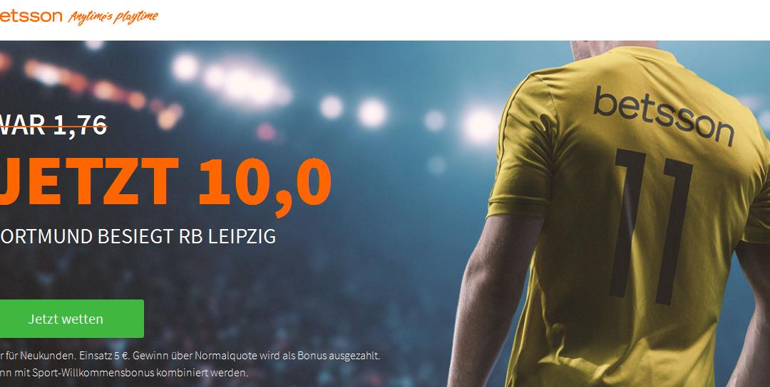 Quotenbooster: 10.0 für einen BVB-Sieg gegen RB Leipzig