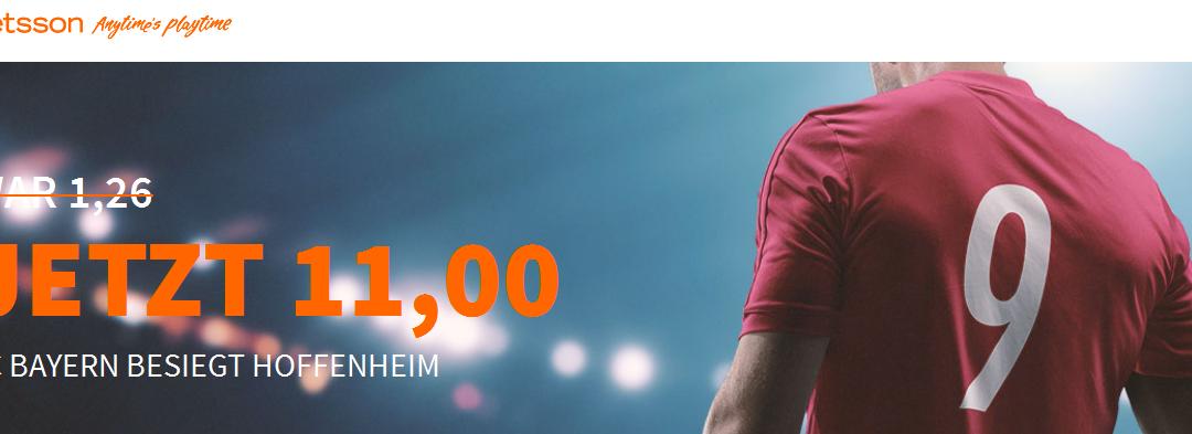 Mega-Quote: 11.0 für einen Bayern-Sieg gegen Hoffenheim