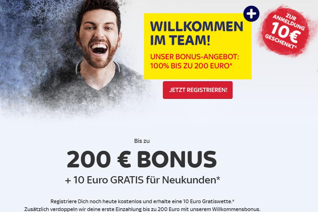 Jetzt bis zu 200 Euro Bonus bei SkyBet sichern