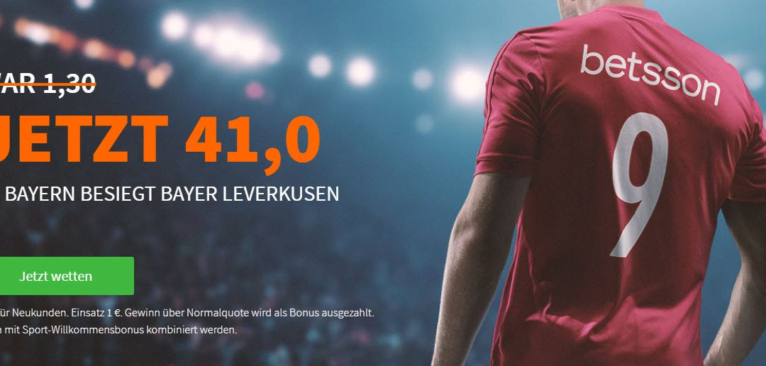 Mega-Quote: 41.0 für einen Bayern-Sieg gegen Bayer