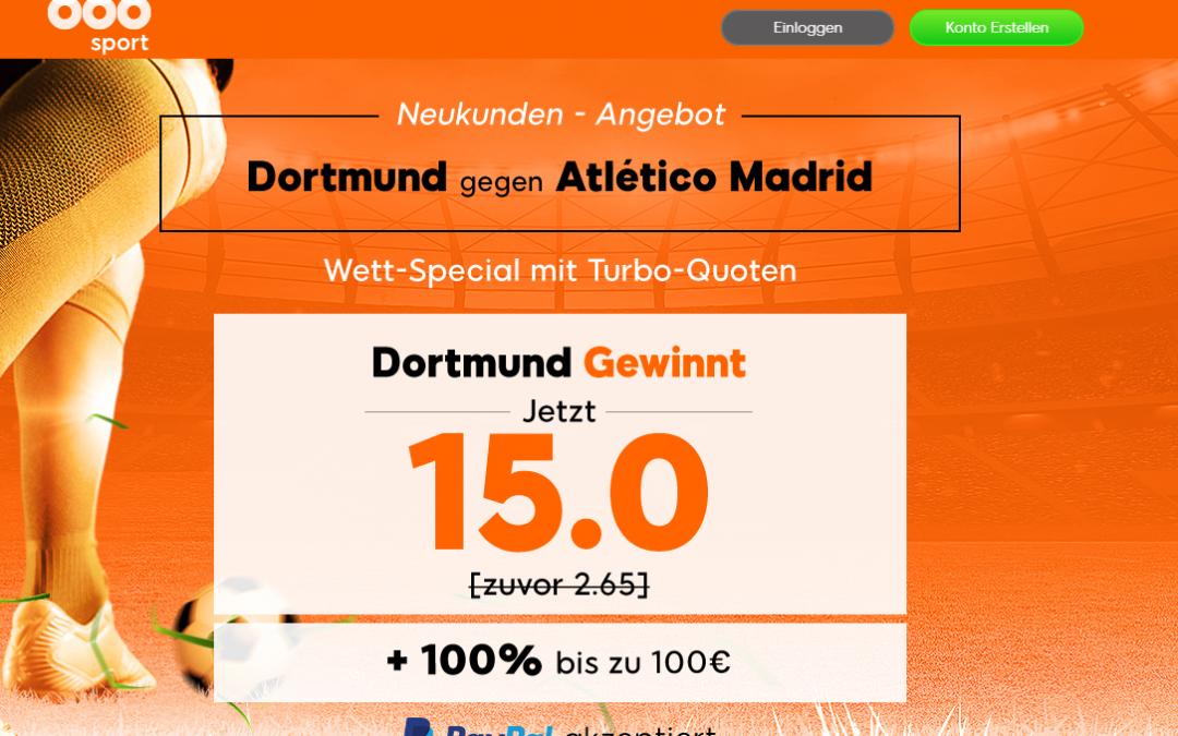 70 Euro für 5 – wenn Dortmund gegen Atlético gewinnt