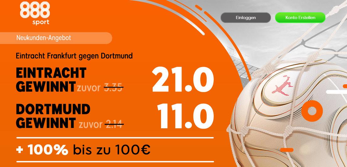 100 Euro für 5 – wenn Frankfurt Dortmund schlägt