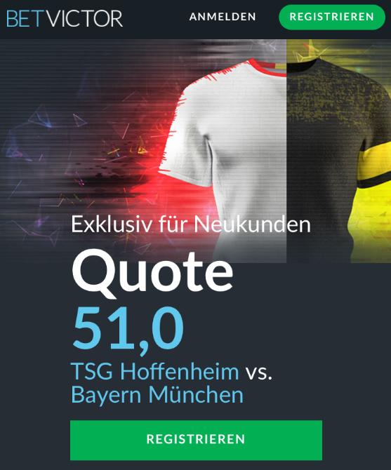 Mega-Quote: 51.0 wenn Bayern gewinnt