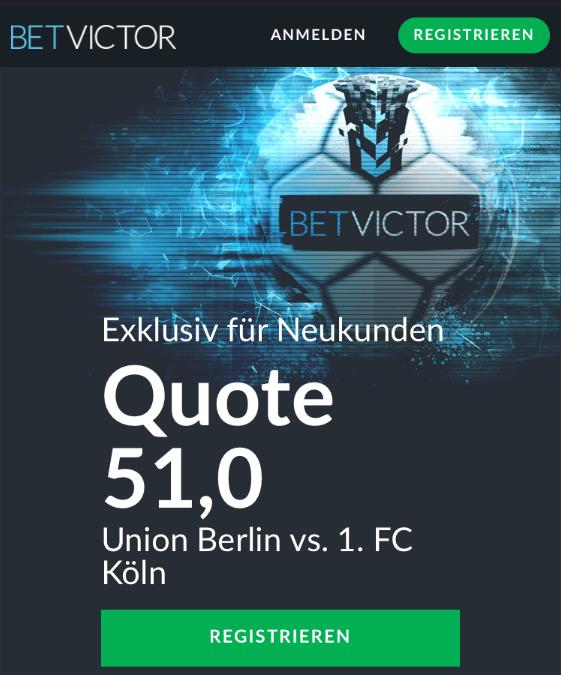 Mega-Quote: 51.0 für Köln-Sieg in Berlin