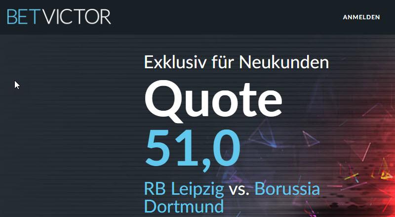 Mega-Quote: 51.0 für einen BVB-Sieg in Leipzig