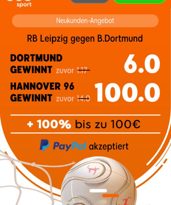 Easy Money: 6.0-Quote für Dortmund-Sieg