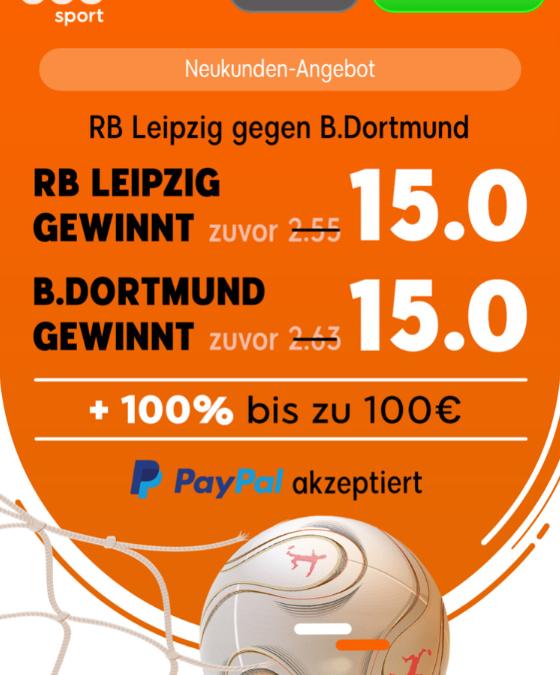 Quotenhammer – 15.0 für Siege von Dortmund oder Leipzig