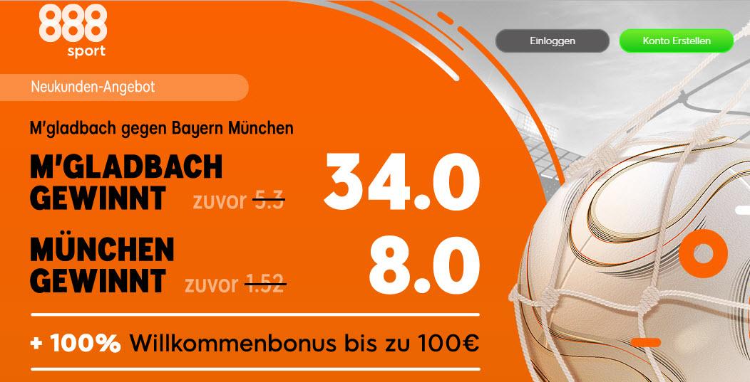170 Euro für 5 – wenn Gladbach Bayern schlägt