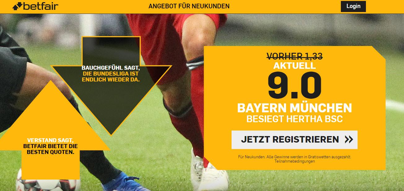 45 Euro für 5 – wenn Bayern in Berlin gewinnt