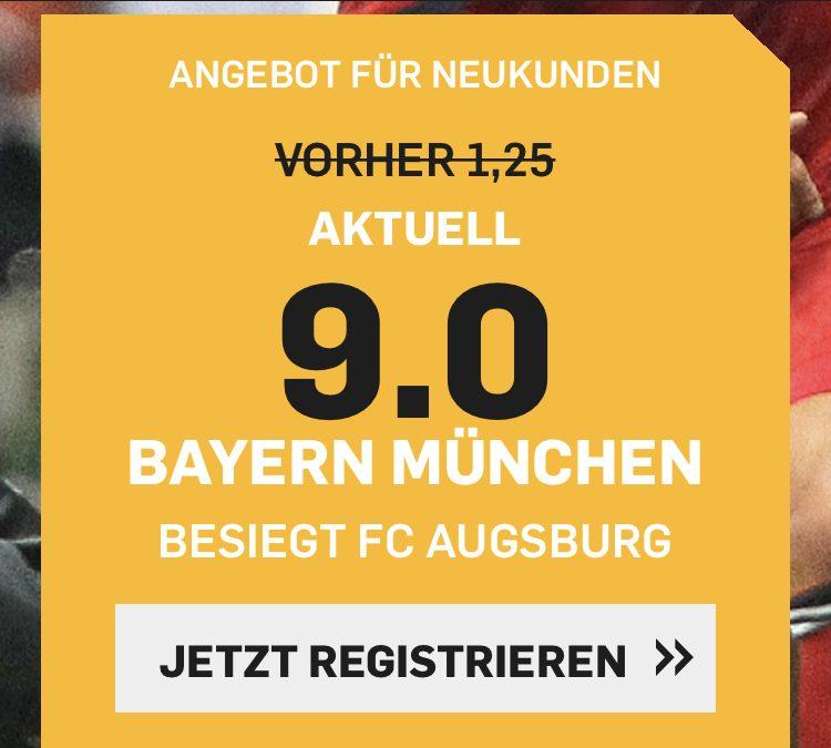 9.0 für einen Bayern-Sieg gegen Augsburg
