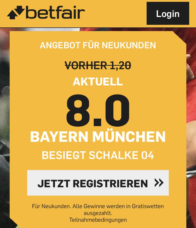 40 Euro für 5 – wenn Bayern Schalke schlägt