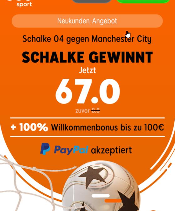 330 Euro – wenn Schalke die Sensation gegen City schafft
