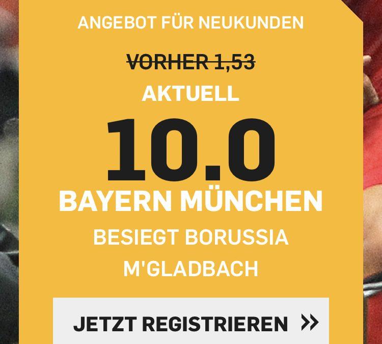 50 Euro für 5 – wenn Bayern Gladbach schlägt