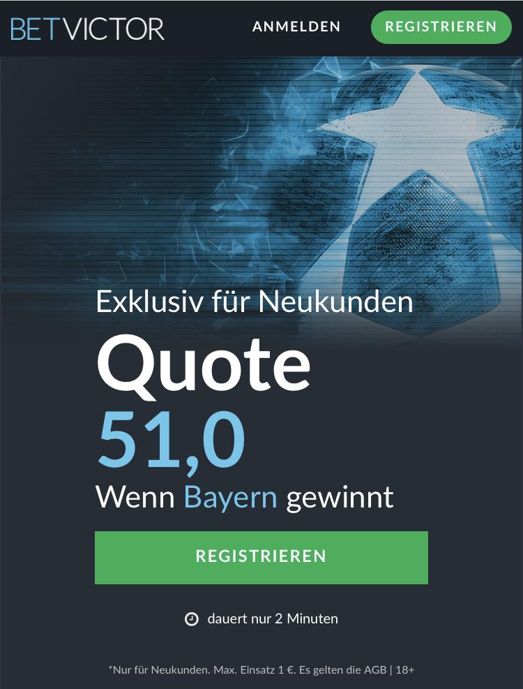 Mega-Quote: 51.0 wenn Bayern Liverpool schlägt