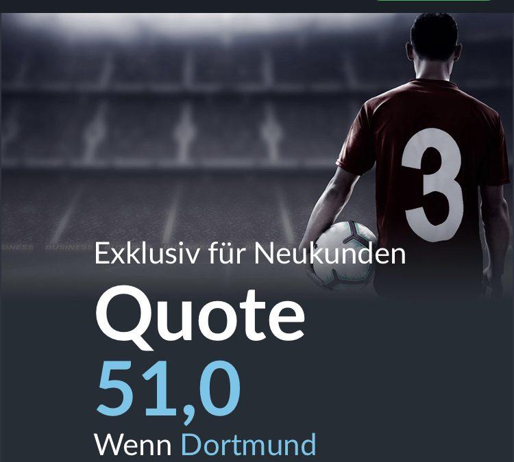 Mega-Quote: 51.0 wenn Dortmund den FC Schalke schlägt