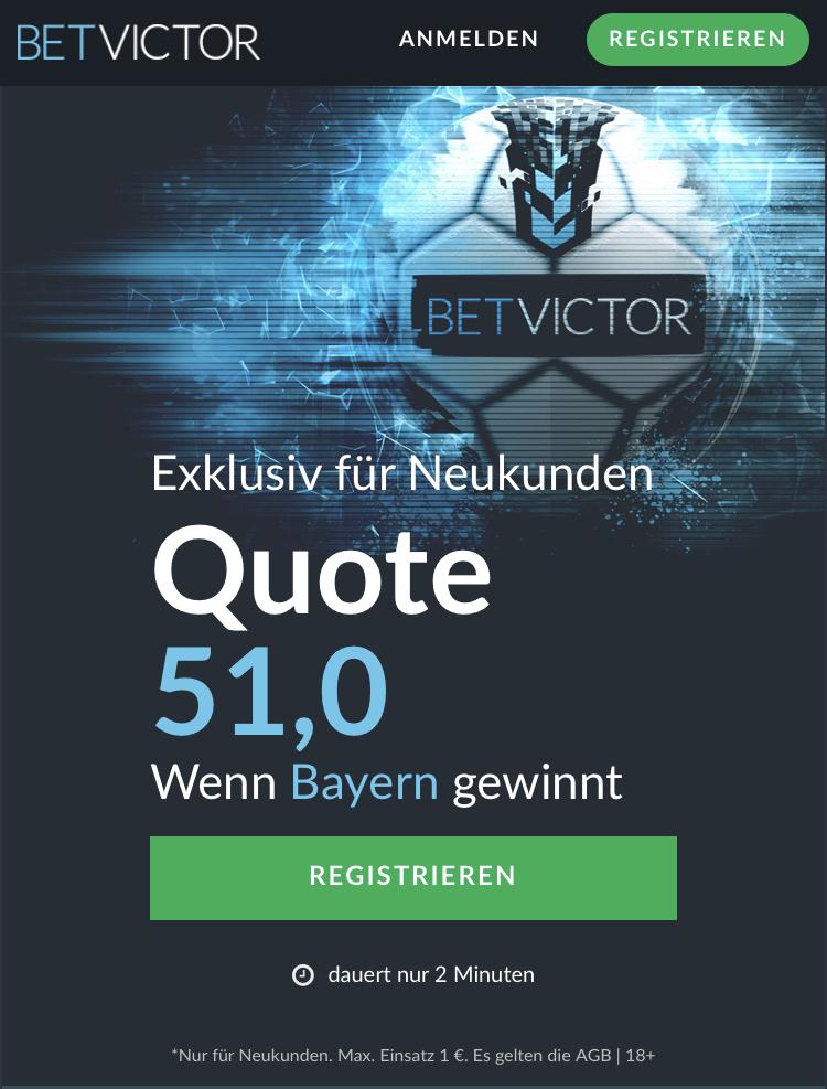 Mega-Quote: 51.0 wenn Bayern gegen Bremen gewinnt