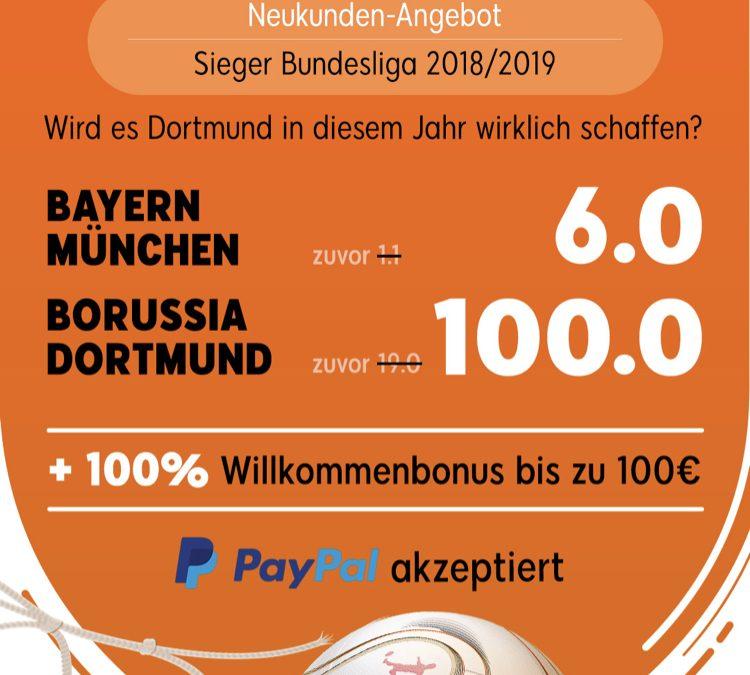 Giga-Quote: Gewinnt 500 Euro – wenn Dortmund Meister wird