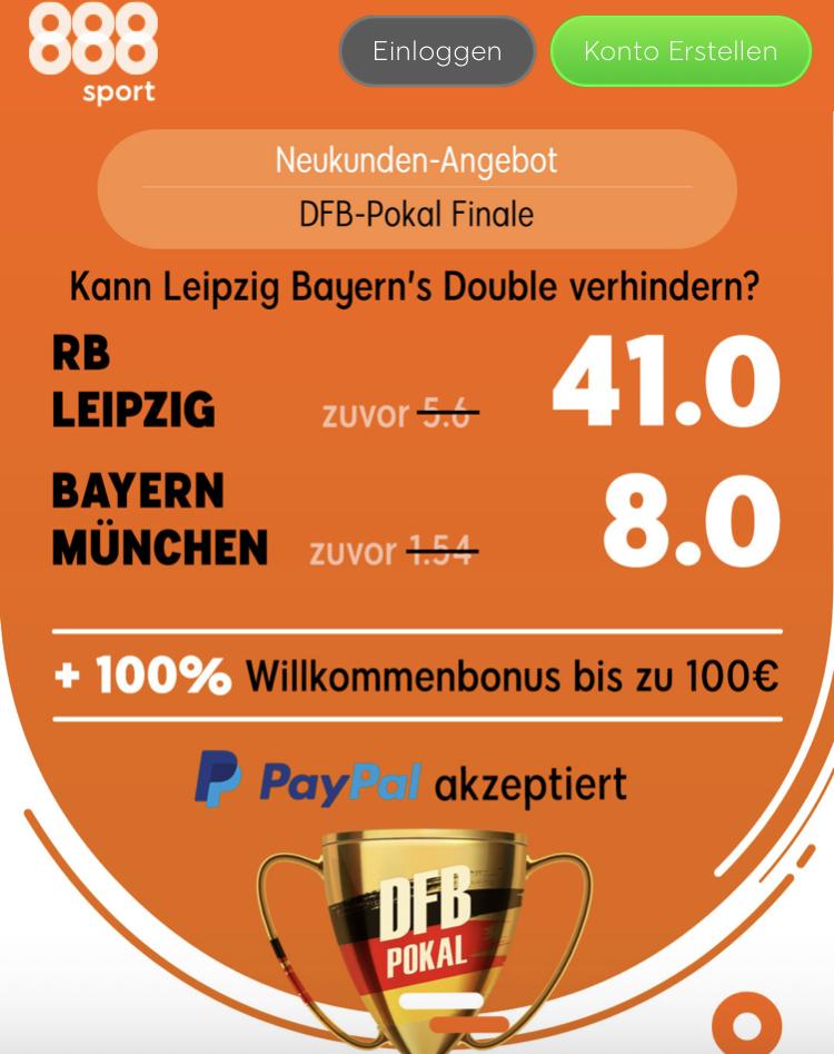 200 Euro für 5 – wenn Leipzig DFB-Pokalsieger wird