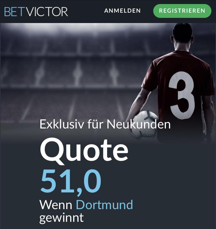 Mega-Quote: 51.0 wenn Dortmund Bremen schlägt