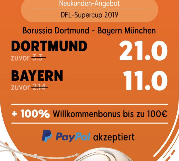 100 Euro für 5 – wenn Dortmund den FC Bayern schlägt