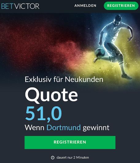 Mega-Quote: 51.0 für einen Dortmund-Sieg gegen Augsburg