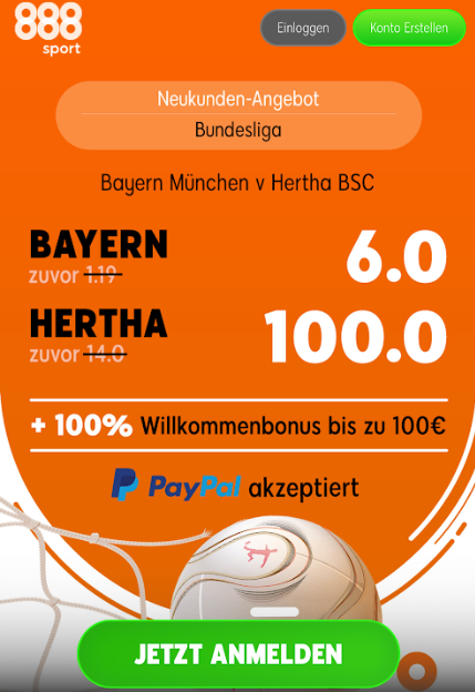 495 Euro für 5 – wenn Hertha die Bayern besiegt