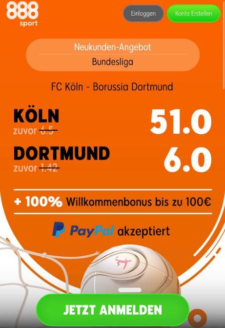 Super-Quote: 6.0 für Dortmund-Sieg in Köln