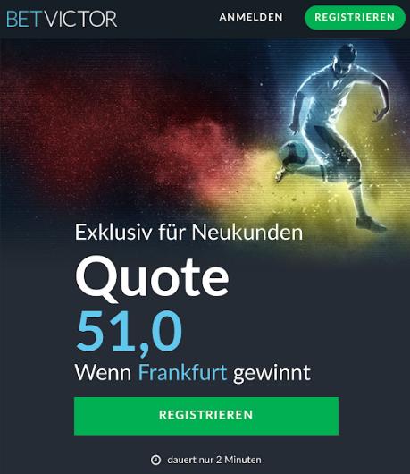 TOP-Quote: 51.0 wenn Frankfurt Hoffenheim schlägt