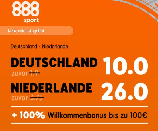 130 Euro für 5 – wenn Niederlande die DFB-Elf besiegt