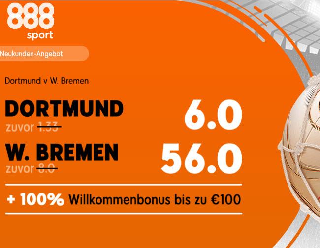 Gewinne 250 Euro – wenn Bremen den BVB schlägt