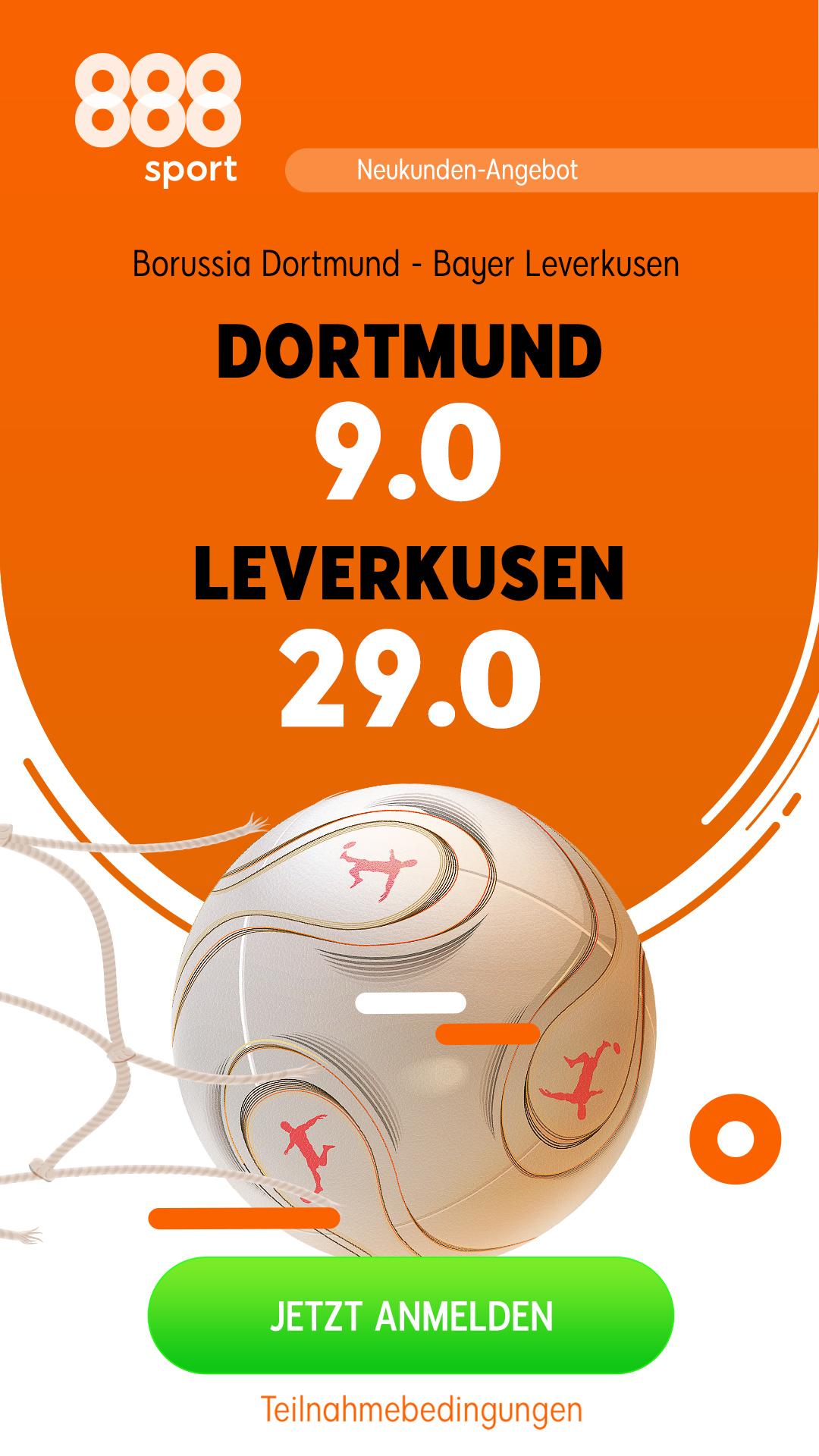 Tolle Quote: 9.0 für Dortmund-Sieg gegen Leverkusen