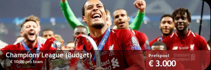 """Werdet bei Zweeler """"Meister der Champions League"""" und verdient damit Geld"""