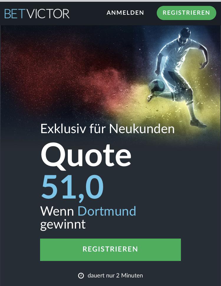 51.0 – wenn Dortmund gegen Frankfurt gewinnt