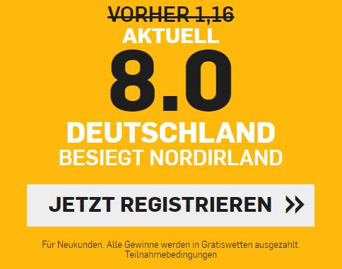 Deutschland Nordirland Quote