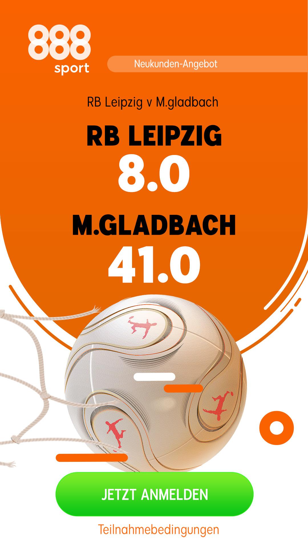 Mega-Quote 41.0 für Gladbach-Sieg in Leipzig