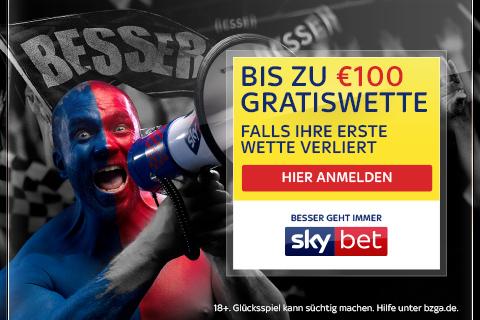 Gratis-Wette von bis zu 100 Euro absahnen!