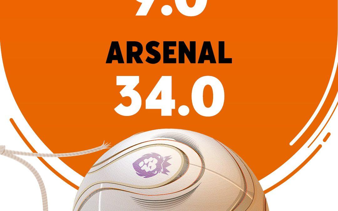Quote 34 für Revanche-Sieg von Arsenal