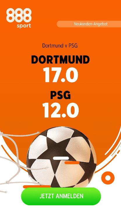 Super-Quote 17.0 für Dortmund-Sieg gegen Paris