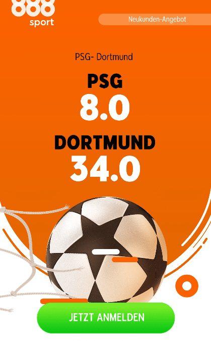 Mega-Quote 34.0 für Dortmund-Sieg bei PSG