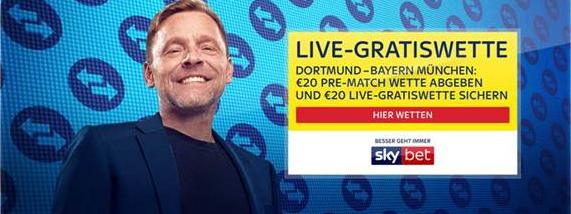 Live-Gratiswette für BVB vs. Bayern sichern