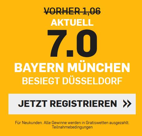 Top-Quote 7.0 für Bayern-Sieg gegen Düsseldorf