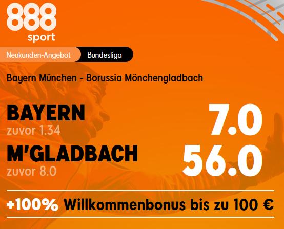 Monster-Quote 56.0 für Gladbach-Sieg