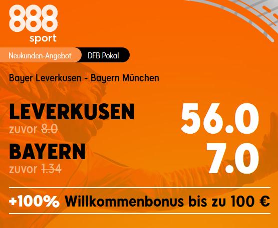 Pokalfinale: Mega-Quote 56.0 für Leverkusen-Sieg gegen die Bayern