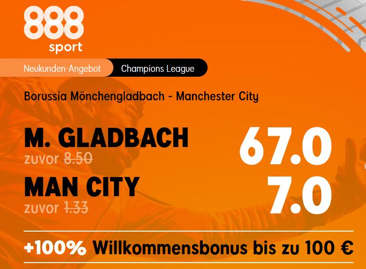 Gladbach gegen die unschlagbaren Citizens